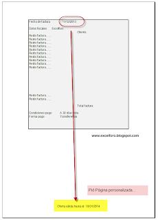 VBA: personalizando el pié de página o Footer mediante programación en Excel.