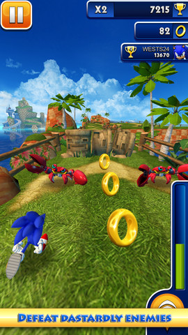 Sonic Dash, iPhone Arcade Games  Free Download, iPhone Applications