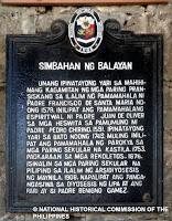 Simbahan ng Balayan marker by the National Historical Commission