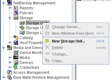 First we will need to configure a new storage unit- in the NetBackup UI under NetBackup Management expand the  Storage  item and right click on   Storage ...  sc 1 st  var/adm & Set up Backups to Disk for NetBackup 7.x | /var/adm