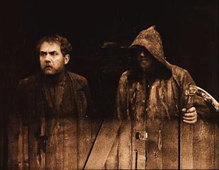 Victor Sjöström y Tore Svennberg en La carreta fantasma