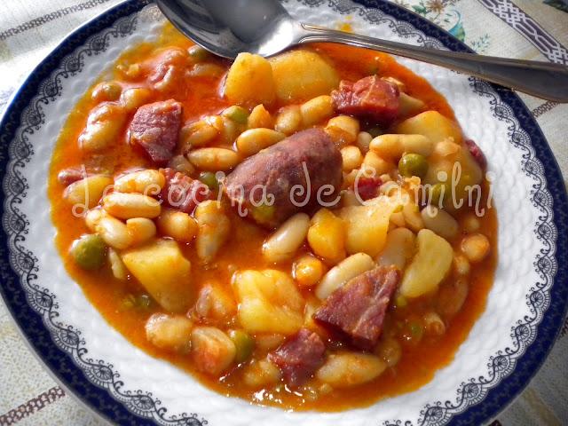 La cocina de camilni potaje de jud as blancas - Potaje de garbanzos y judias ...