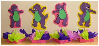 Children's Parties Decoration, Barney Centerpieces
