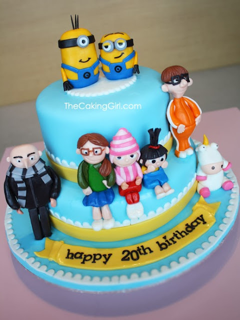 cutest despicable me cake design