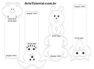 Molde de marcador de livro animal marca página