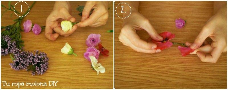 Preparar las flores