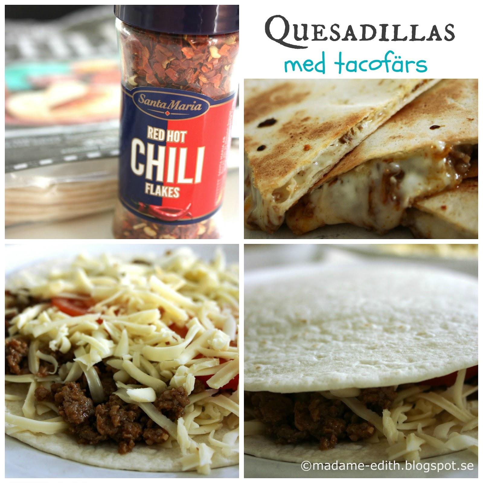 quesadillas köttfärs recept