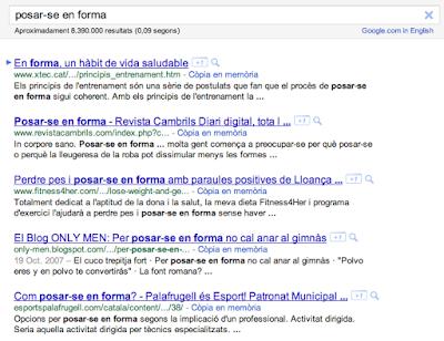 pàgina de resultats de cerca, breu introducció al funcionament de Google. Estrategeek Vic