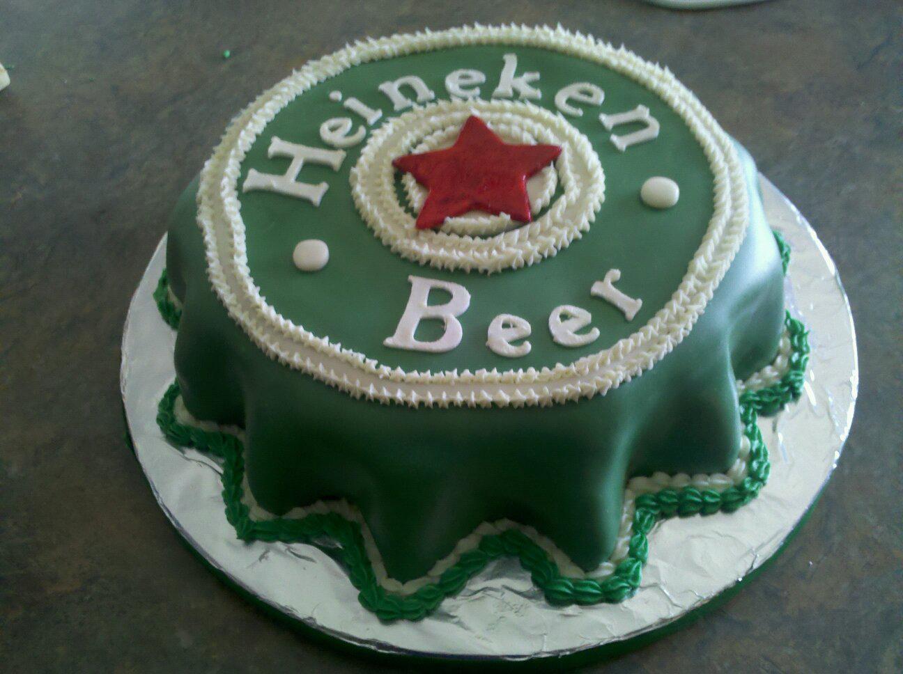 birdznestblog Heineken Birthday Cake