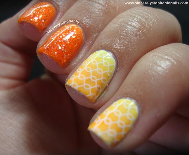 mash stamping china glaze neon orange