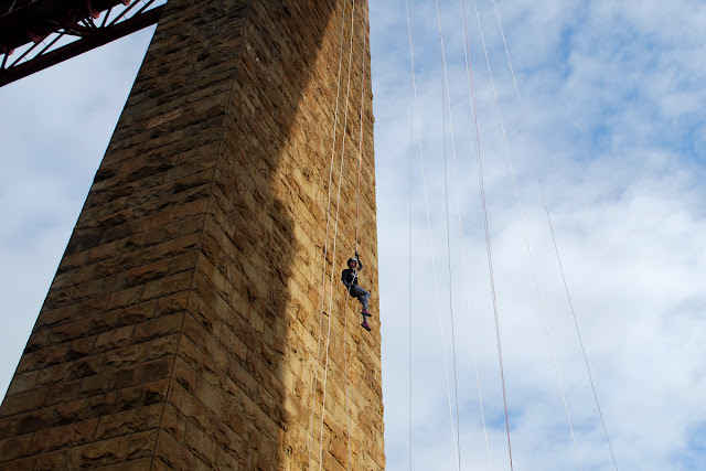 Me - Forth Rail Bridge abseil SAMH