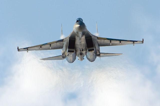 Sukhoi Su-35 afterburner