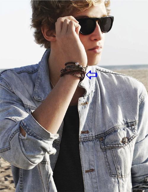 Cody Simpson wearing Jenny Dayco bracelets