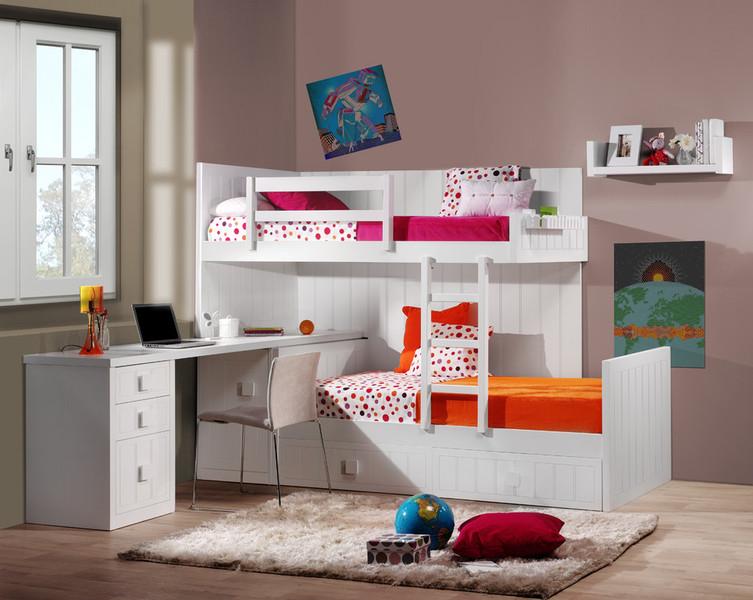 Solucion de litera tipo tren cuando contamos con poco espacio - Habitaciones infantiles dobles poco espacio ...