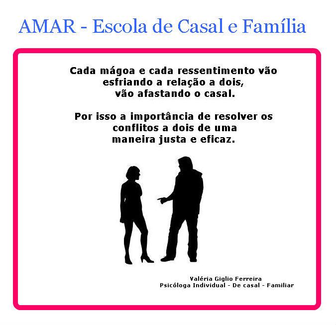 Casais: não acumulem resentimentos e mágoas...!