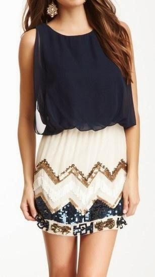 Stylish black blouse and white skirt
