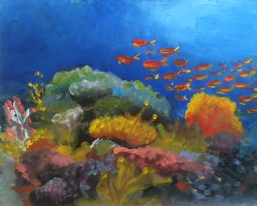 Underwater Oil Paintings The gallery for -->...
