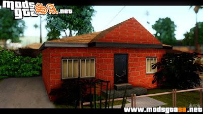 SA - Novas Texturas das Casas ao Redor da Grove Street