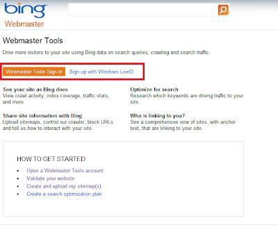 Blogger Seo - Bing Arama Motoruna Sitemap Eklemek