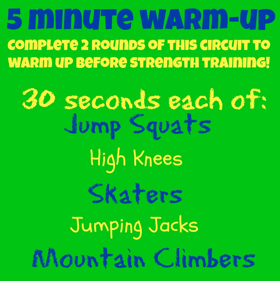 full body warm up exercises pdf