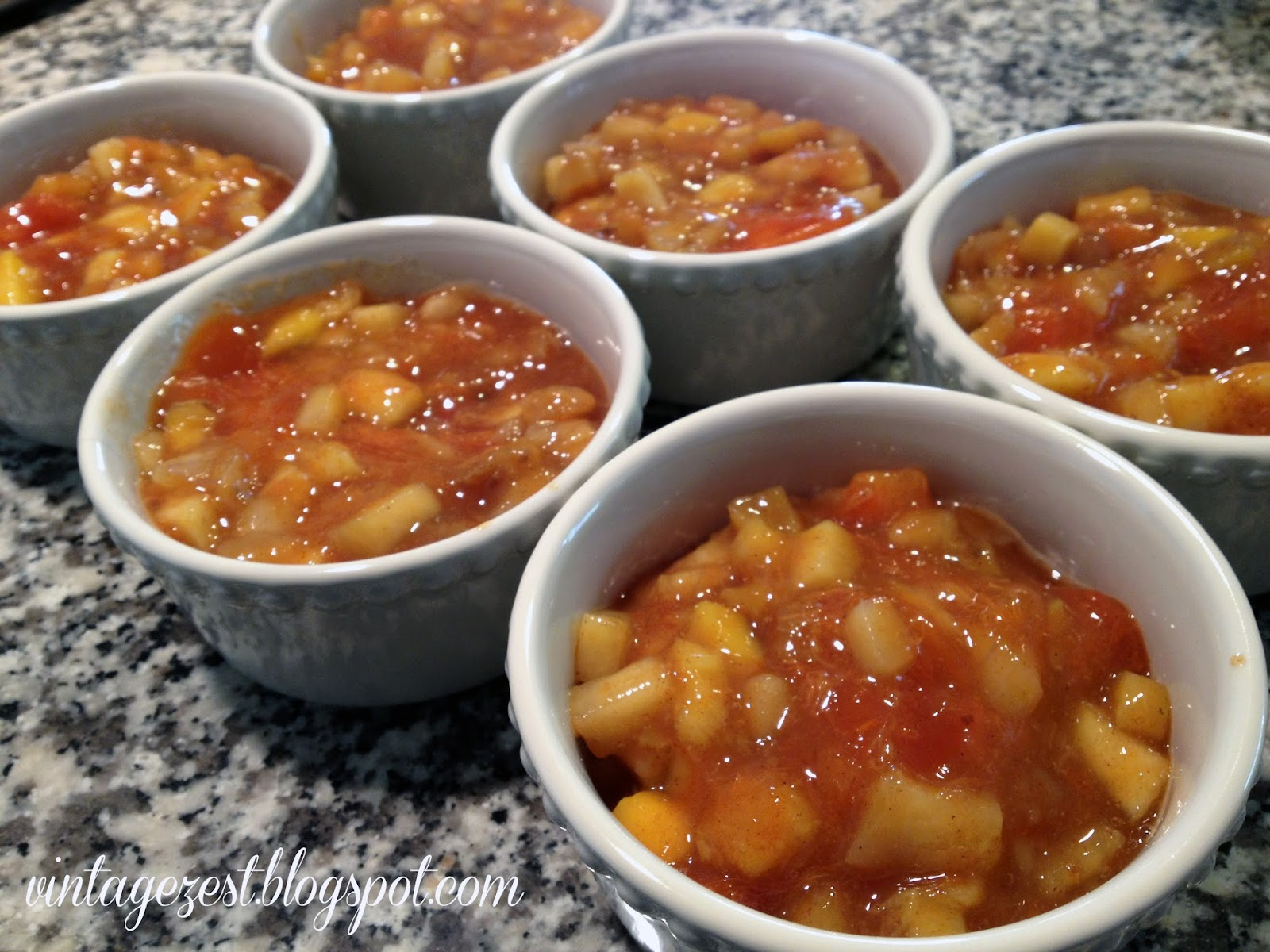 Persimmon, Pear, and Mango Cobbler