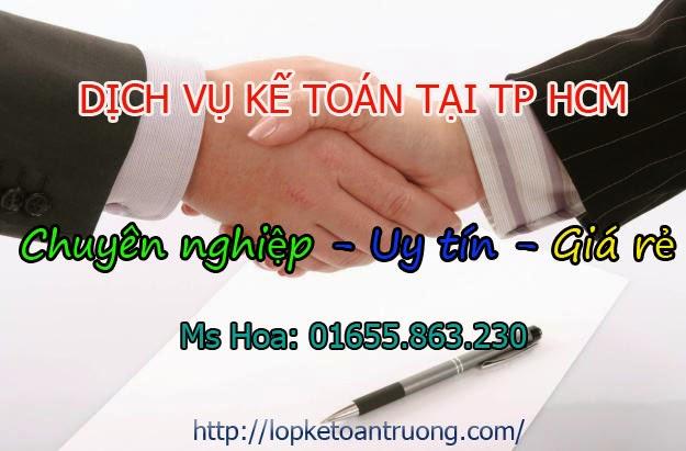 Dịch vụ kế toán tại TP HCM