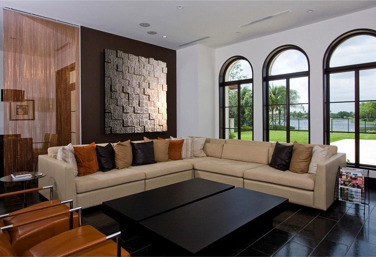 Decorative Living Room - Interior Feature Greal Wall Design Panels