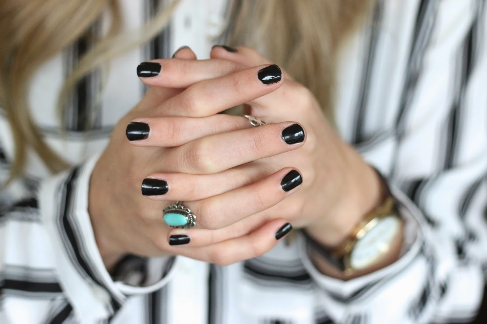 black fall nail polish