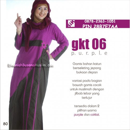Gamis Sik Clothing GKT 06 Purple