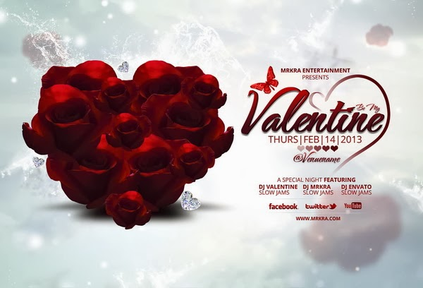 Be My Valentine Flyer Template – Photoshop