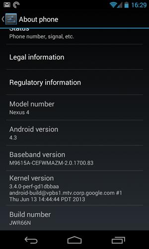 Primeras novedades de Android 4.3 Jelly Bean, nexus 4 android 4.3, Google presentacion español Android 4.3, novedades nexus 7