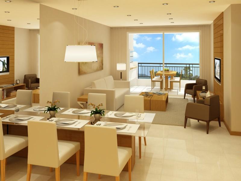 Sala De Estar E Jantar Conjugadas ~  de Mulherzinha Decor  Sala de jantar integrada com sala de estar