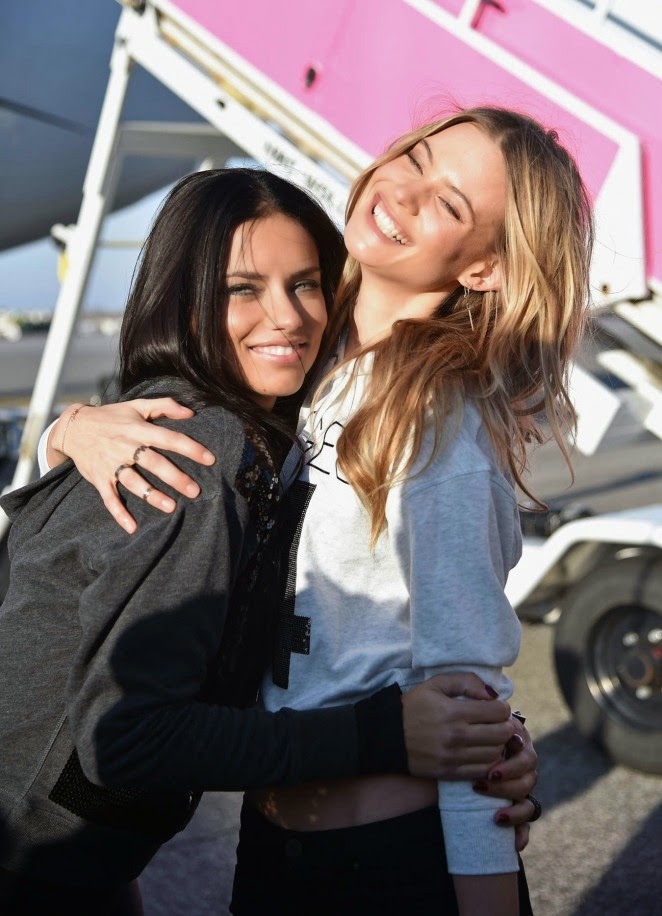 Victoria's Secret Angels fly to London for the 2014 VS Fashion Show