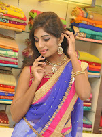 Mounika Reddy Glam pics in Half saree-cover-photo