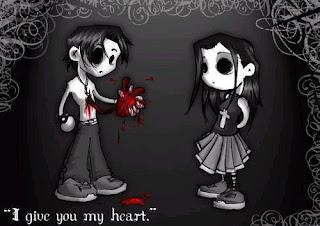 Emo con corazón en mano