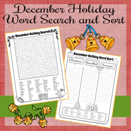 https://www.teacherspayteachers.com/Product/December-Holiday-Word-Search-and-Sort-977874