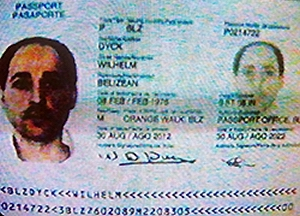Rafic Labboun is Wilhelm Dyck on a forged Belizean passport