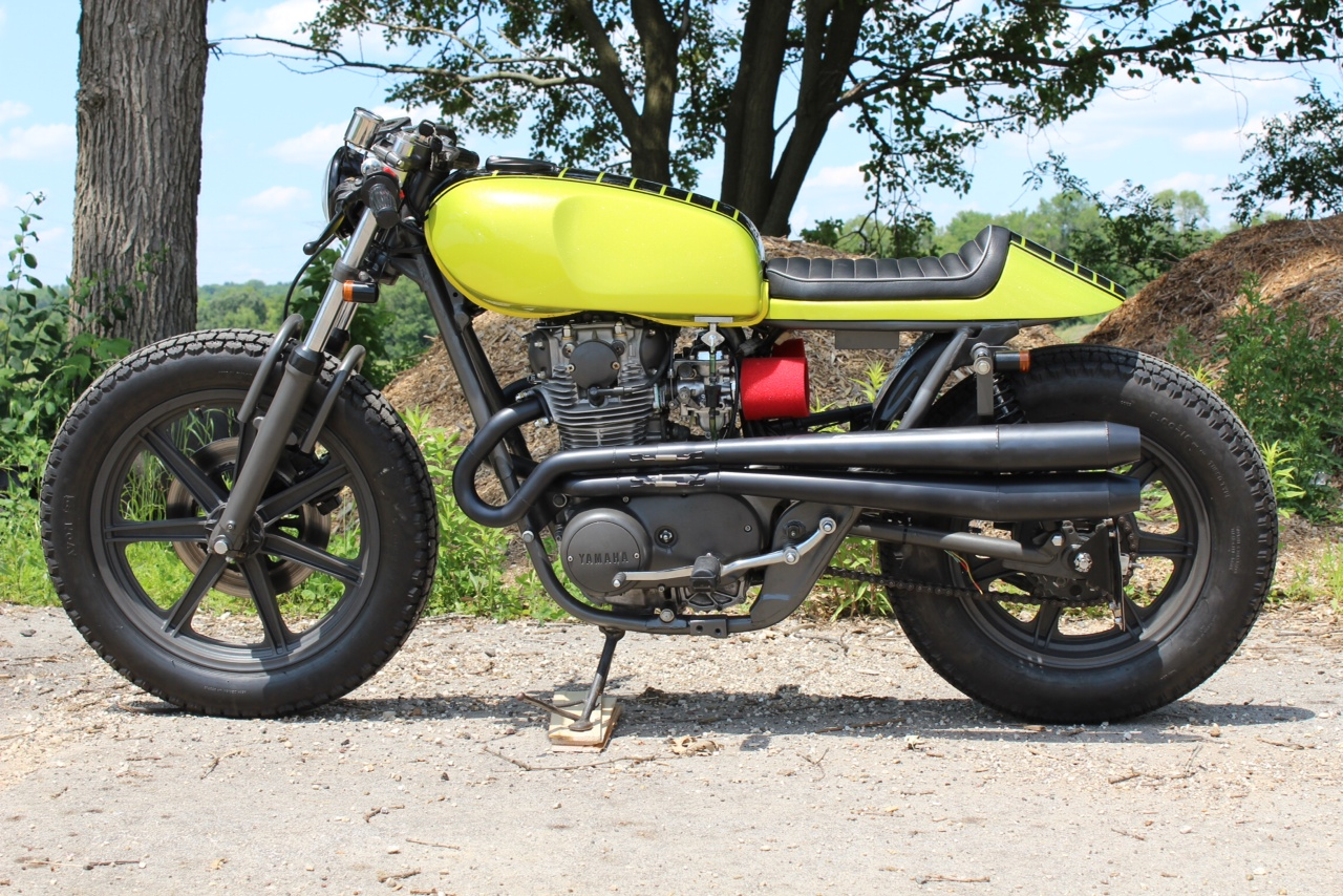 yamaha xs650 lime green goodness return of the cafe racers. Black Bedroom Furniture Sets. Home Design Ideas