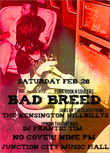 Bad Breed @ Junction City Music Hall, Saturday
