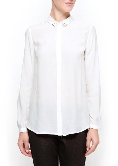 Camisa blanca con cuello tachuelas Mango otoño/invierno 2012