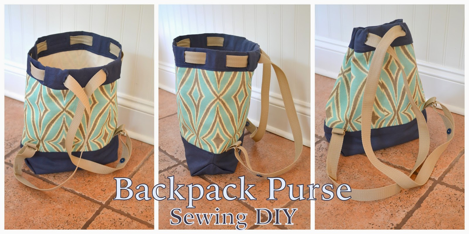 DIY Backpack Purse - Sewing A Diaper Bag Purse | Logic & Laughter