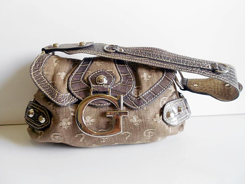 Bolsa De Mão Guess Preço : Brech? da cris bolsa de m?o guess original usada