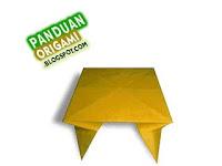 Panduan Membuat Origami Bentuk Meja