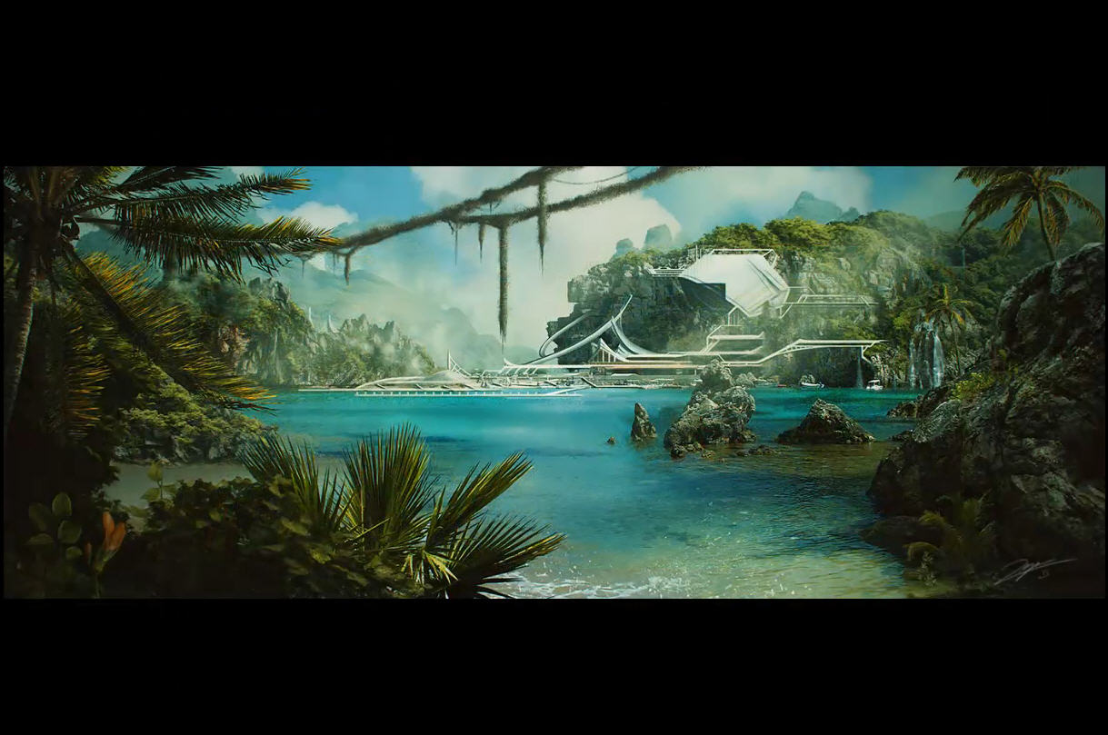 Sci fi jungle matte painting cg tutorial sci fi jungle matte painting baditri Gallery