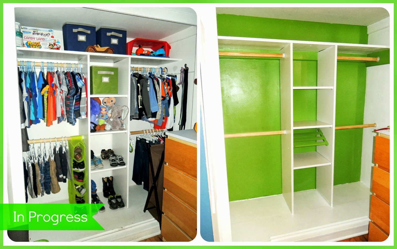 Wonderful ... The Entire Closet In Semi Gloss. I Thought It Would Also Be Fun To Add  Some Color While I Was At It, And Allowed JD To Pick The Color (Behr New  Green)!