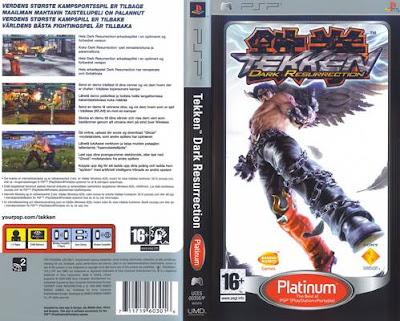 Jogo Tekken Dark Resurrection PSP DVD Capa