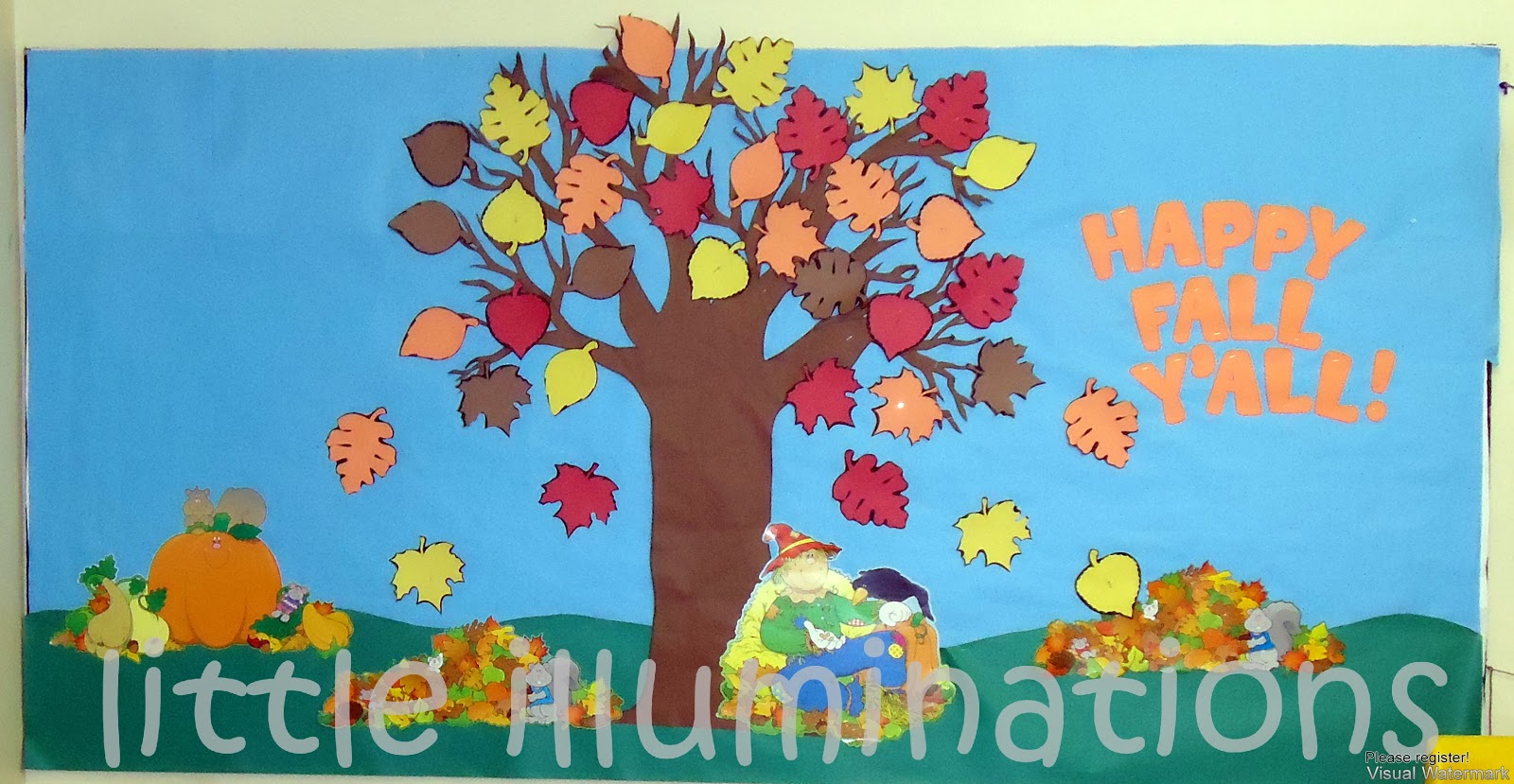 Little illuminations fabulous fall bulletin boards for Fall bulletin board ideas