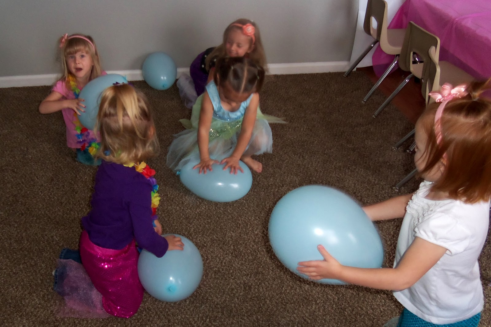 Toddler Boredom Busters: Snow Day Activity - Balloon Butt Pop!