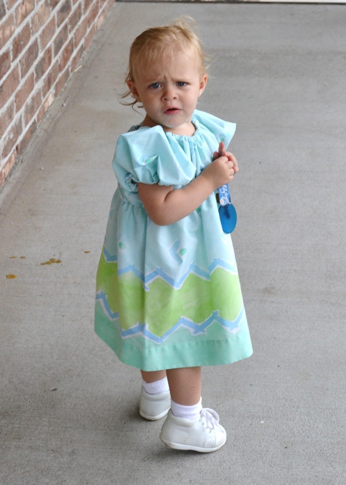 how to make girls peasant dress