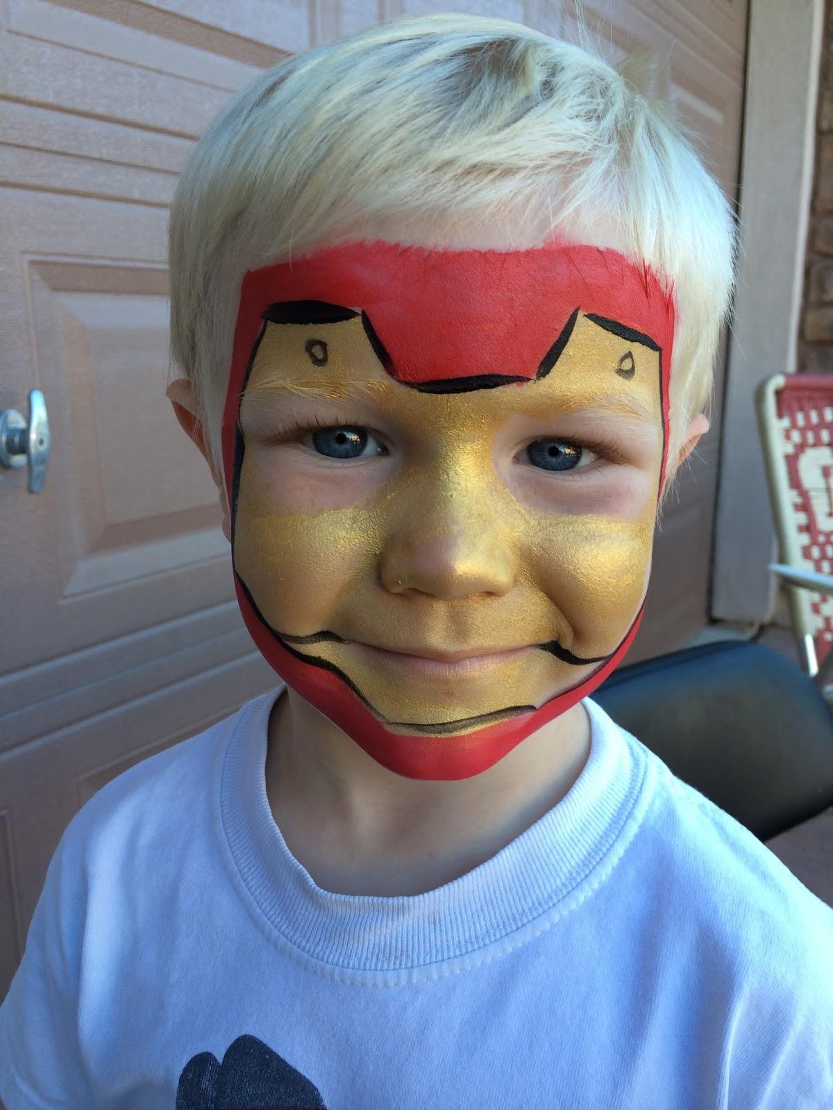Iron Man Face Painting Mask By Jennifer Van Dyke